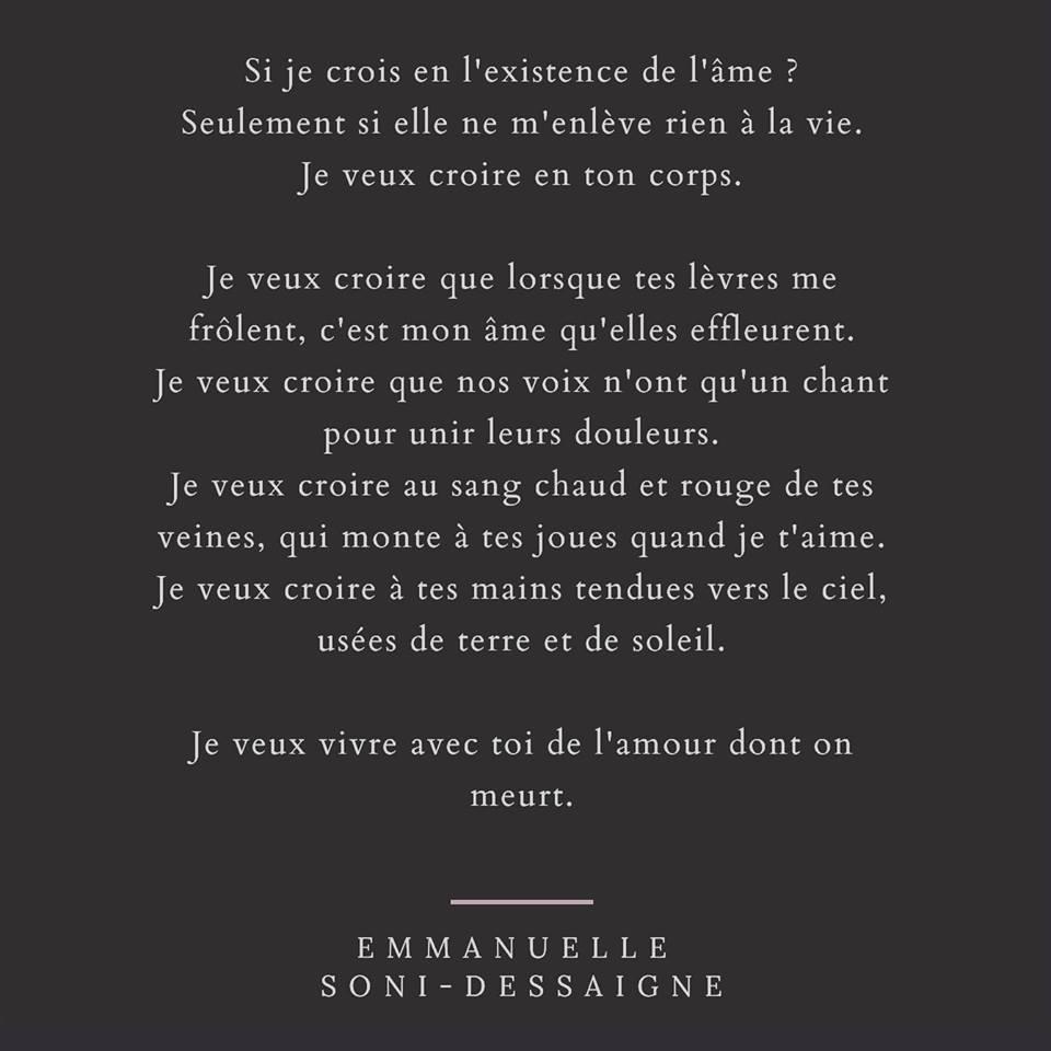 Poetry Collections Emmanuelle Soni Dessaigne Emmanuelle